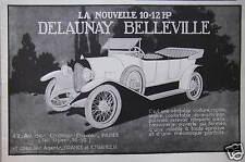 PUBLICITÉ LA NOUVELLE 10-12 HP DELAUNAY BELLEVILLE VOITURE RAPIDE ET LÉGÈRE