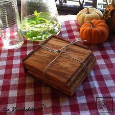 6 teiliges Untersetzer Set für Gläser Olivenholz Holz Tischschoner  10,5cm