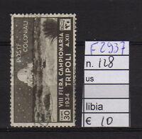 FRANCOBOLLI ITALIA COLONIE LIBIA USATI N°128 (F2937)