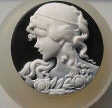 Lady cameo Grande Molde de Silicona Cupcake de resina de Arcilla pastelería