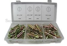 New 50PC GRIP Lynch Pins Assortment Kit FarmTractors 3 Point Hitch Steel Trailer