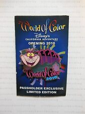 CANCELED ARTIST PROOF World Of Color CHESHIRE CAT Alice In Wonderland Disney Pin