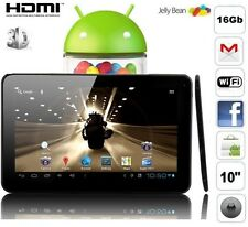 Tablette tactile 10 pouces * android 4.2 usb 40go  wifi 1080p HD 3D Top affaire