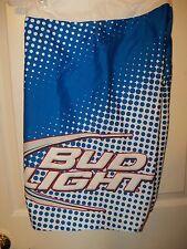 Bud Light Lite Beer Blue Dot White Board Swim Trunks Shorts Mens Size 30 NWT