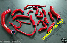 Fit Nissan 180SX/200SX/Silvia S13/S14 SR20DET RHD silicone radiator hose red