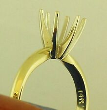 1.75CT SOLITAIR RING SETTING 14K SOLID YELLOW GOLD HIGH SETTING MOUNTING