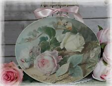 "~ ""Pink Rose..."" Vintage ~ Shabby Chic Country Cottage style ~ Wall Decor Sign ~"