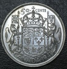 OLD CANADIAN COIN 1941 - 50 CENTS HALF DOLLAR .800 SILVER - George VI - WWII era