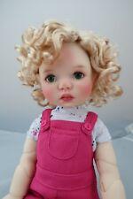 Monique MARIANNE Wig Peach Blonde Size 12-13 SD BJD shown on My Meadow SAFFI