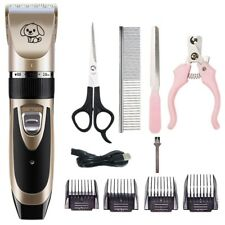 More details for electric pet cat dog grooming clippers hair trimmer shaver kit cordless quiet
