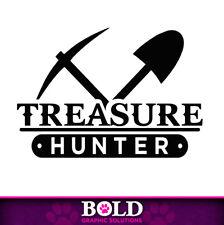 Treasure Hunter Decal Window Bumper Sticker Car Decor Adventure Metal Detector