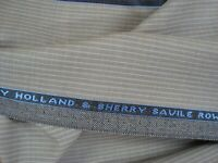 "4.33 yds HOLLAND SHERRY WOOL FABRIC Cool Breeze Super Fine 7 oz Suiting 156"" BTP"