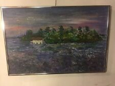 "Painting Oil On Board 16"" X 24"" Framed. See 8pics 4 size & Close Ups. MAKE OFFER"