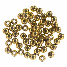 3x Extra Value Plated Beads 4mm Gold 3 PKs of 450g Sewing Craft Tool UK
