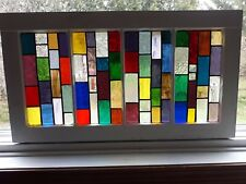 New stained glass in old window frame