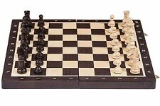 SQUARE - Wooden Chess Set  No. 4 - WENGE - Chessboard & Chess Pieces