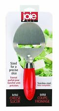 Joie Mini Cheese Slicer Peeler Stainless Steel Red Kitchen Tool Red