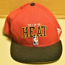 NBA Adidas Red Miami Heat Baseball Cap Hat One Size Fits All