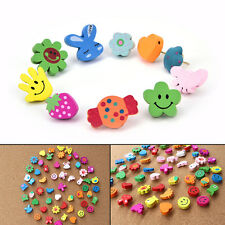 10xMulti-Coloured Cartoon Assorted Push Pins Drawing Cork Board Office SuppliesT