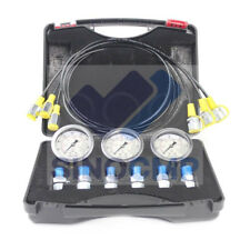 Hydraulic Pressure Gauge Test Kit For Most Excavator Diagnostic Tool 1 Year Wty
