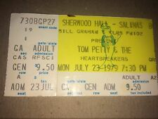 Tom Petty & heartbreakers ticket July 23 1979 Sherwood Hall Salinas CA