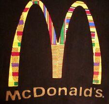 McDONALD's hamburgers Way to Be fast food restaurant African logo T shirt XL tee