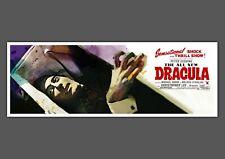 Dracula Hammer Horror art print movie film poster Christopher Lee