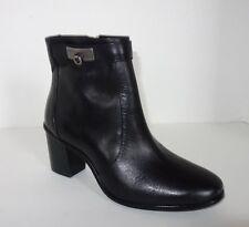 New Antonio Melani 6 Black Leather Side Zip Round Toe Ankle Bootie Size 6M $129