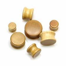 Organic Wood Double Flare Ear Stretcher PLUG OR TUNNEL Wooden Earring Flesh
