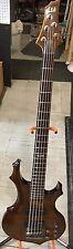 ESP LTD F-155DX - Walnut Brown 5 String Bass Guitar