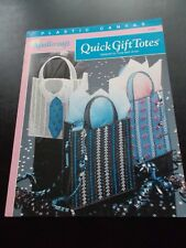 Quick Gift Totes Plastic Canvas Leaflet The Needlecraft Shop 913911 Gift Bags