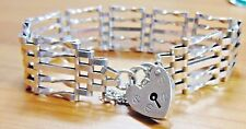 Vintage Solid Silver Five Bar Gate Bracelet
