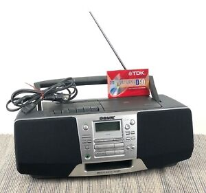 Sony CFD-S28 BoomBox Mega Bass Portable Radio Cassette CD Player FULLY TESTED