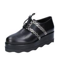 Chaussures Femme ALBANO 38 Ue Classique Noir Cuir BN974-38