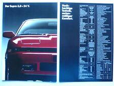 Prospekt Toyota Supra 3.0-24V, 4.1987, 18 Seiten + technische Daten/Ausstattung