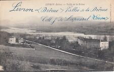 Carte postale ancienne DRÔME LIVRON vallée de la drôme écrite