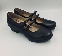 Dansko Pump Josie NWOB Black Leather Mary Jane Comfort Shoe 41 US 10.5/11