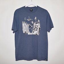 Rebel8 Men's Graphic Tee T Shirt Blue Large Hundreds Diamond HUF