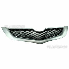 RS Silver Grille Grill Front Bumper For Toyota Belta Yaris Vios Sedan 2006-2012