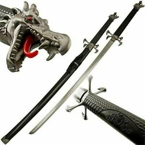 Dragon Claw Samurai Black Ninja Bushido Katana Japanese Four Sword Blade