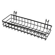 Mesh Wall Metal Wire Basket, Grid Panel Hanging Tray Organizer 40x10x5cm