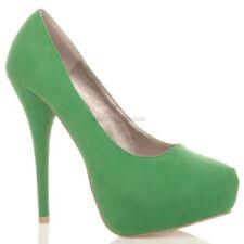 Decolté e sabot da donna verde con tacco altissimo (oltre 11 cm) di sera