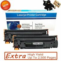 2 PK CF283A High Yield Bk Toner for HP 83A LaserJet Pro M125nw M127fn M127fw MFP
