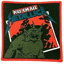 METALLICA - Kill`em All - Square Woven Patch Sew On aufnäher Rare Cliff Burton