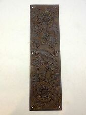 RECLAIMED CAST BRASS PARROT FINGER DOOR PUSH PLATES FINGERPLATE