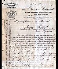 JOUET-sur-l'AUBOIS (18) USINE ST-GERMAIN / CHAUX & CIMENT de BEFFES en 1908