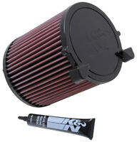 E-2014 K&N Replacement Air Filter AUDI A3 ,1.6L-L4, 2003 (KN Round Replacement F