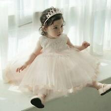 Formal Dresses Lace Baby Princess Bridesmaid Floral Girl Wedding Party Dresses