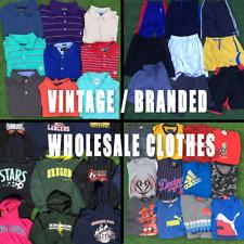 WHOLESALE,JOB LOT,VINTAGE BRANDED CLOTHES, TSHIRTS ,SHORTS , POLO'S, USA HOODIES