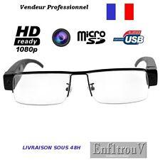 LUNETTES CAMERA ESPION DE VUE CACHEE DEMI LUNE 1080P VIDEO MICROPHONE MICRO SD